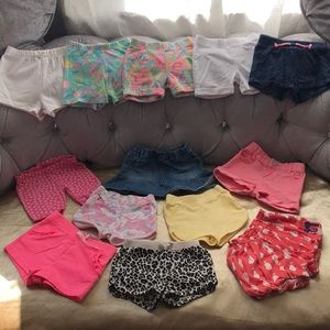 Toddler shorts different brands 13 pc